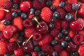 Mixed berries closeup Royalty Free Stock Photo