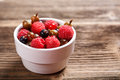 Mixed berries in white bowl Royalty Free Stock Photos
