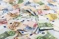 Mixed bills of Euro