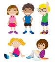 Mixed children Stock Image
