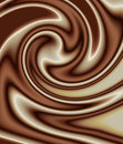 Mixed chocolate swirl Royalty Free Stock Photography