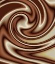 Mixed chocolate swirl Royalty Free Stock Photo