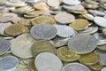 Mixed coins . Royalty Free Stock Photo