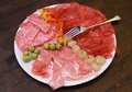 Mixed cold cuts Royalty Free Stock Photo