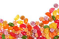 Mixed colorful fruit candy Stock Images