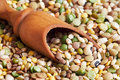 Mixed dried legumes Royalty Free Stock Photo
