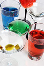 Mixed drinks Royalty Free Stock Photo