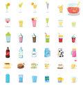 Mixed drinks illustration of on white Royalty Free Stock Images