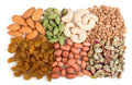 Mixed dry fruits Royalty Free Stock Images