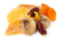 Mixed dry fruits heap Stock Images