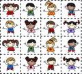 Mixed ethnic children Stock Photo