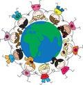 Mixed ethnic children around the world