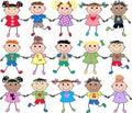 Mixed ethnic kids Royalty Free Stock Photo