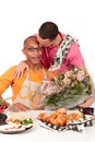 Mixed ethnicity  gay couple Valentine Royalty Free Stock Photography