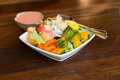 mixed fruit and vegetable salad Royalty Free Stock Photo