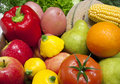 Mixed Fruit and Vegetables Royalty Free Stock Image