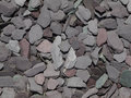 Mixed garden slate chippings Stock Photos