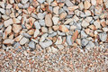 Mixed gravel freshly laid shot from above Royalty Free Stock Images
