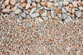 Mixed gravel freshly laid shot from above Stock Photography