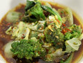 Mixed green vegetable soup Royalty Free Stock Image