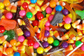 Mixed halloween candy background Royalty Free Stock Photo