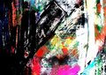 Mixed Media Background Painting brushstrokes Stock Photography