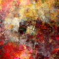 Mixed media on canvas Royalty Free Stock Images