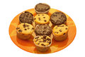 Mixed muffins Stock Photography