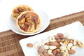 Mixed nut tart photo of Royalty Free Stock Photos