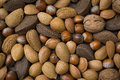 Mixed nuts background close up of the Royalty Free Stock Photography