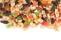 Mixed nuts and dried fruits Stock Image