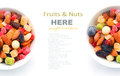 Mixed nuts and dry fruits in a bowl Royalty Free Stock Photo