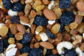 Mixed nuts, raisins and dried fruit Royalty Free Stock Photo