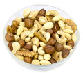 Mixed nuts various in a bowl Stock Photo