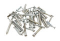 Mixed pile of screws and bolts Royalty Free Stock Photo