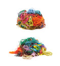 Mixed pile of yarn threads Royalty Free Stock Photo