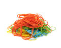 Mixed pile of yarn threads isolated Royalty Free Stock Photo