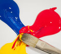 Mixed Primary Colors Royalty Free Stock Photo