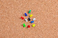 Mixed pushpin thumbtacks macro detail thumb tack Royalty Free Stock Images