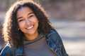 Mixed Race African American Girl Teenager With Perfect Teeth Royalty Free Stock Photo