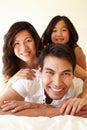 Mixed race Asian family Royalty Free Stock Photo