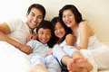 Mixed race Asian family Royalty Free Stock Photo