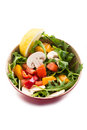 Mixed salad with arugula, mushrom Stock Images