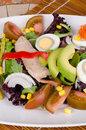 Mixed salad closeup take of a freshly made Royalty Free Stock Photos