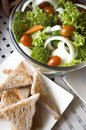 Mixed salad and wheat toast Royalty Free Stock Photography
