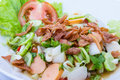 Mixed Salad  in white plate Royalty Free Stock Photo