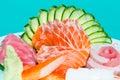 Mixed sashimi Royalty Free Stock Photo