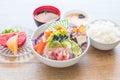 mixed sashimi set Royalty Free Stock Photo