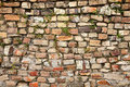 A mixed stone and bricks wall. Royalty Free Stock Photography