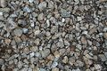 Mixed Stone and Pebble Mosaic on the Ground